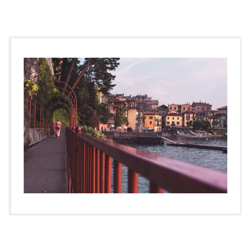 Strolling Along Lake Como Home Fine Art Print by Jelly Designs