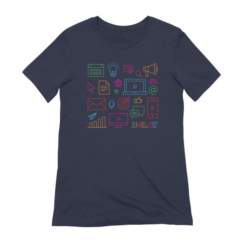 Jelly Marketing Icon Shirt Women's Extra Soft T-Shirt by Jelly Marketing & PR