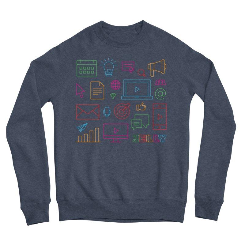 Jelly Marketing Icon Shirt Women's Sponge Fleece Sweatshirt by Jelly Marketing & PR