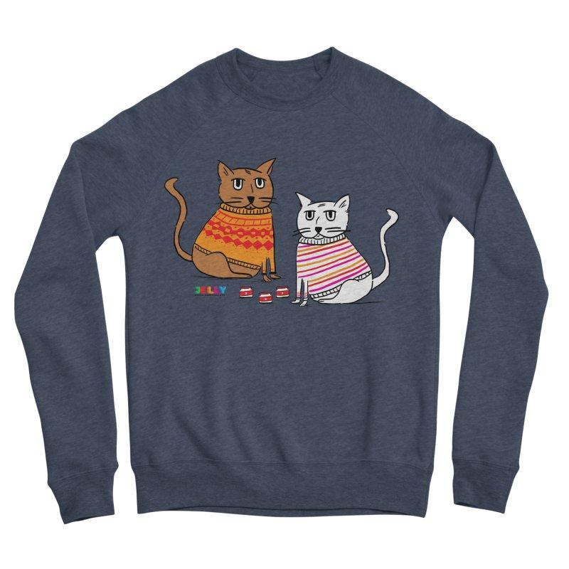 Cozy Cats Men's Sponge Fleece Sweatshirt by Jelly Marketing & PR