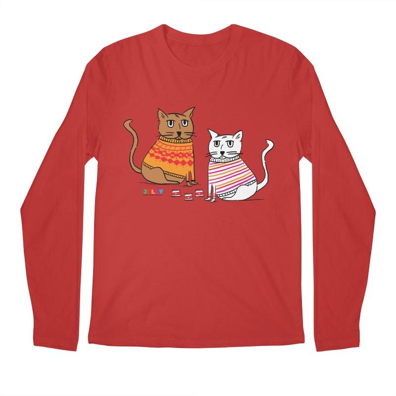 Cozy Cats Men's Regular Longsleeve T-Shirt by Jelly Marketing & PR