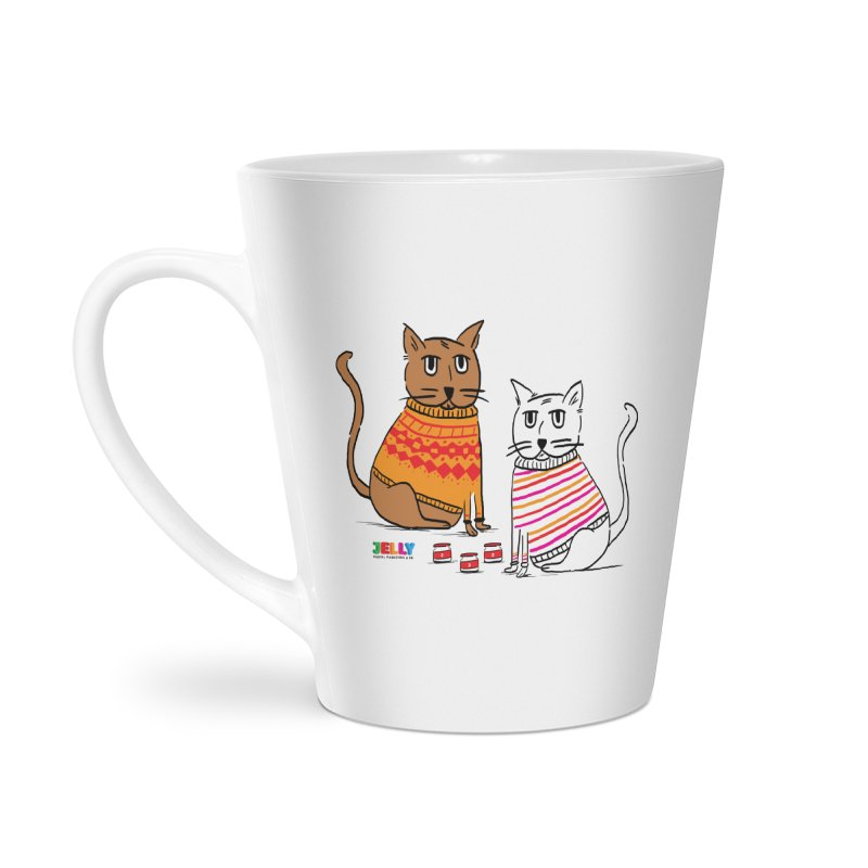 Cozy Cats Accessories Latte Mug by Jelly Marketing & PR
