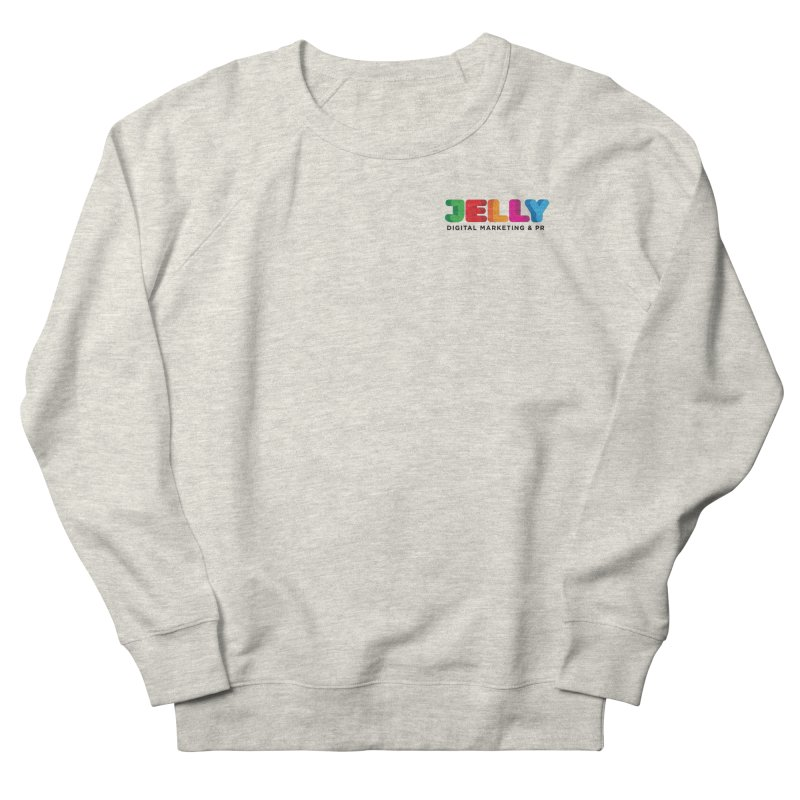 Jelly Logo Men's French Terry Sweatshirt by Jelly Marketing & PR