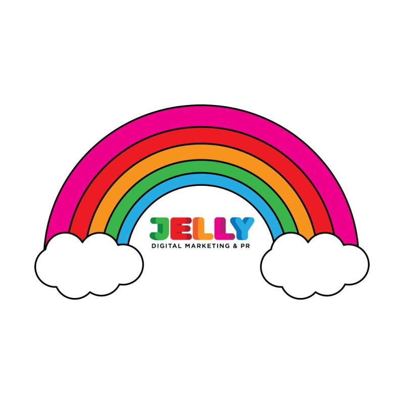 The Jelly Rainbow Men's T-Shirt by Jelly Marketing & PR