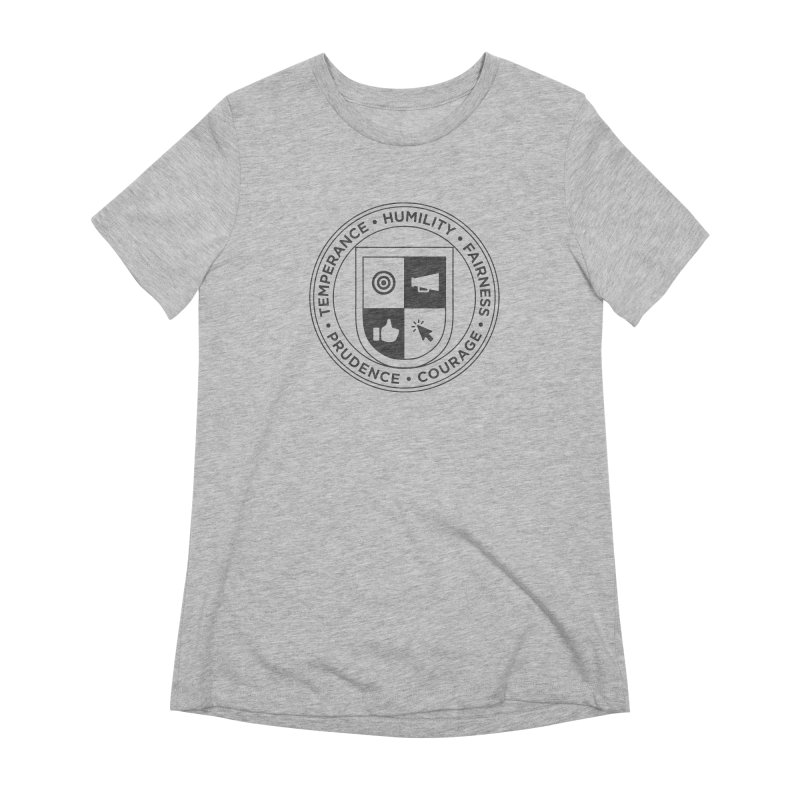 Jelly Academy Black Crest Women's Extra Soft T-Shirt by Jelly Marketing & PR