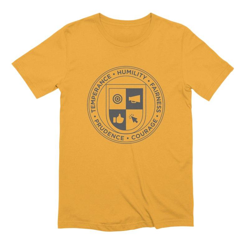 Jelly Academy Black Crest Men's Extra Soft T-Shirt by Jelly Marketing & PR