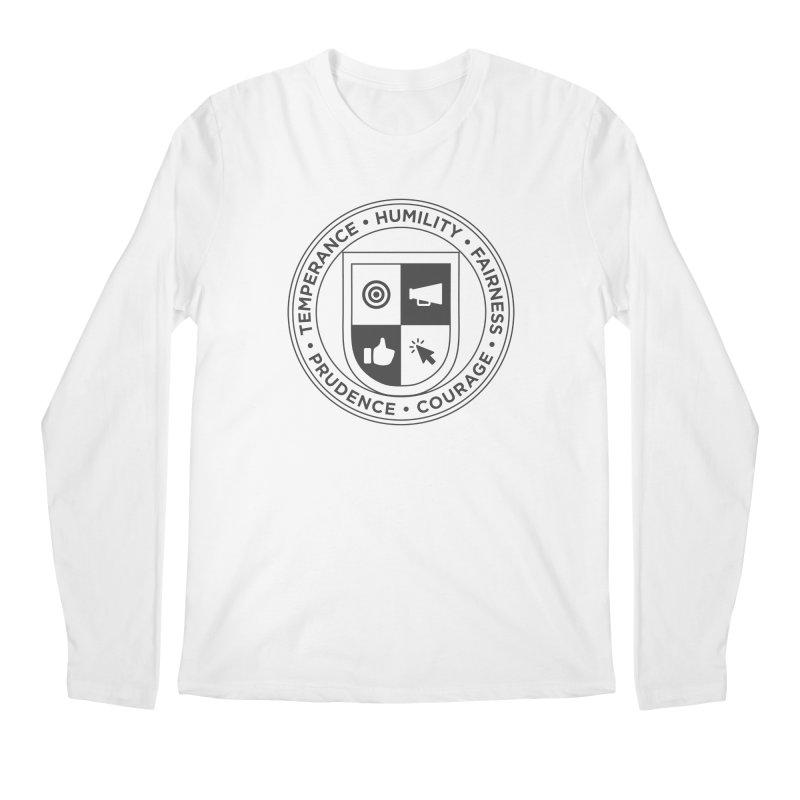 Jelly Academy Black Crest Men's Regular Longsleeve T-Shirt by Jelly Marketing & PR