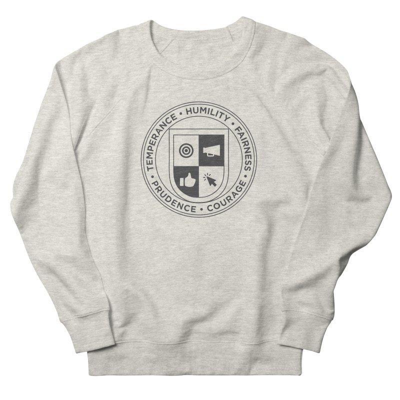 Jelly Academy Black Crest Women's French Terry Sweatshirt by Jelly Marketing & PR