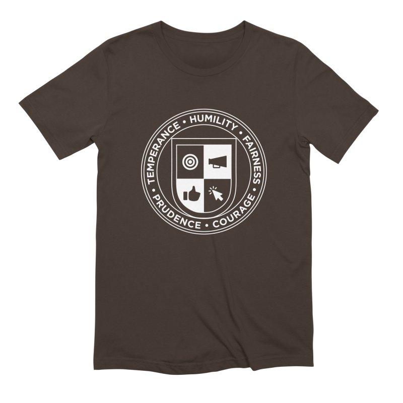 Jelly Academy White Crest Men's Extra Soft T-Shirt by Jelly Marketing & PR