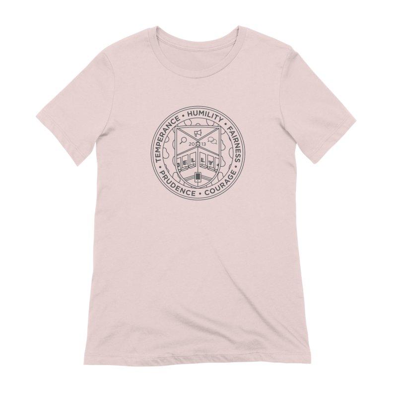 Jelly Marketing University Black Crest Women's Extra Soft T-Shirt by Jelly Marketing & PR