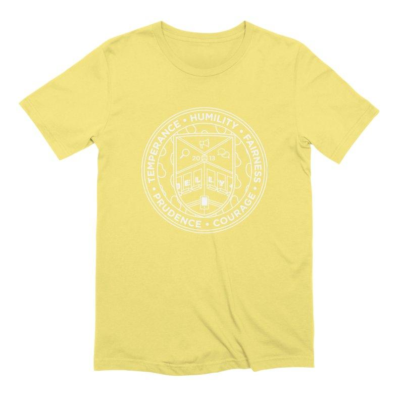 Jelly Marketing White Crest Men's Extra Soft T-Shirt by Jelly Marketing & PR