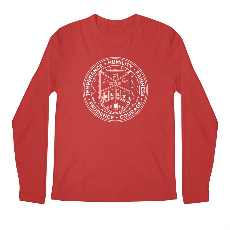 Jelly Marketing White Crest Men's Regular Longsleeve T-Shirt by Jelly Marketing & PR