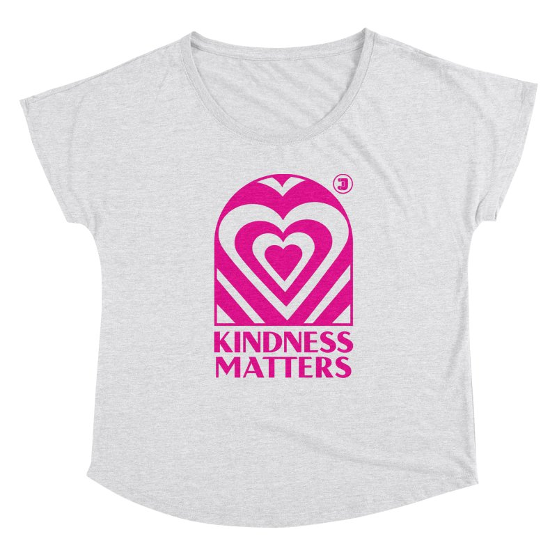Kindness Matters Pink Shirt Day Women's Scoop Neck by Jelly Marketing & PR