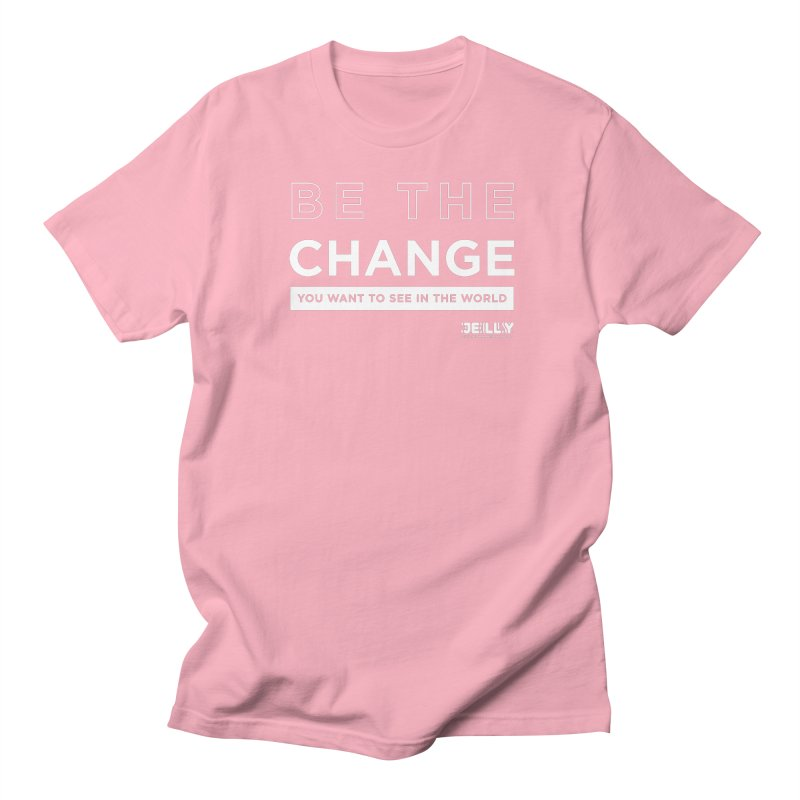 Be The Change You Want To See In The World Pink Shirt Day Men's T-Shirt by Jelly Marketing & PR