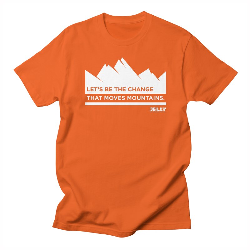 Let Be The Change That Moves Mountains Orange Shirt Day Men's T-Shirt by Jelly Marketing & PR