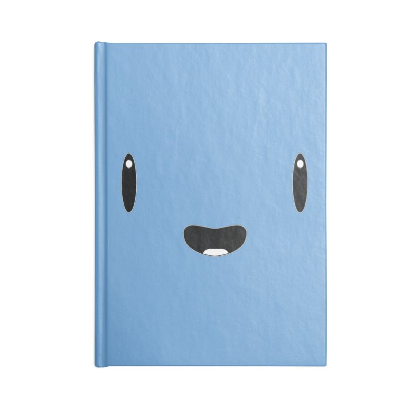 Minimalist Jellywish Face Accessories Lined Journal Notebook by Jellywishes