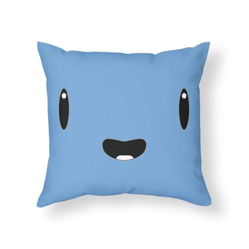 Minimalist Jellywish Face Home Throw Pillow by Jellywishes