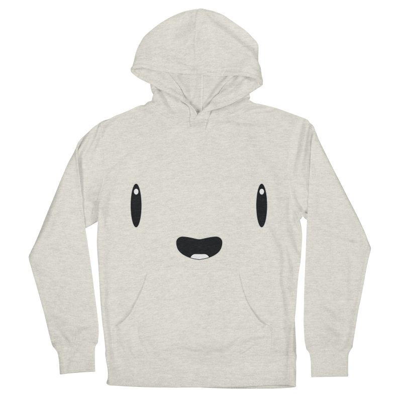 Minimalist Jellywish Face Men's French Terry Pullover Hoody by Jellywishes