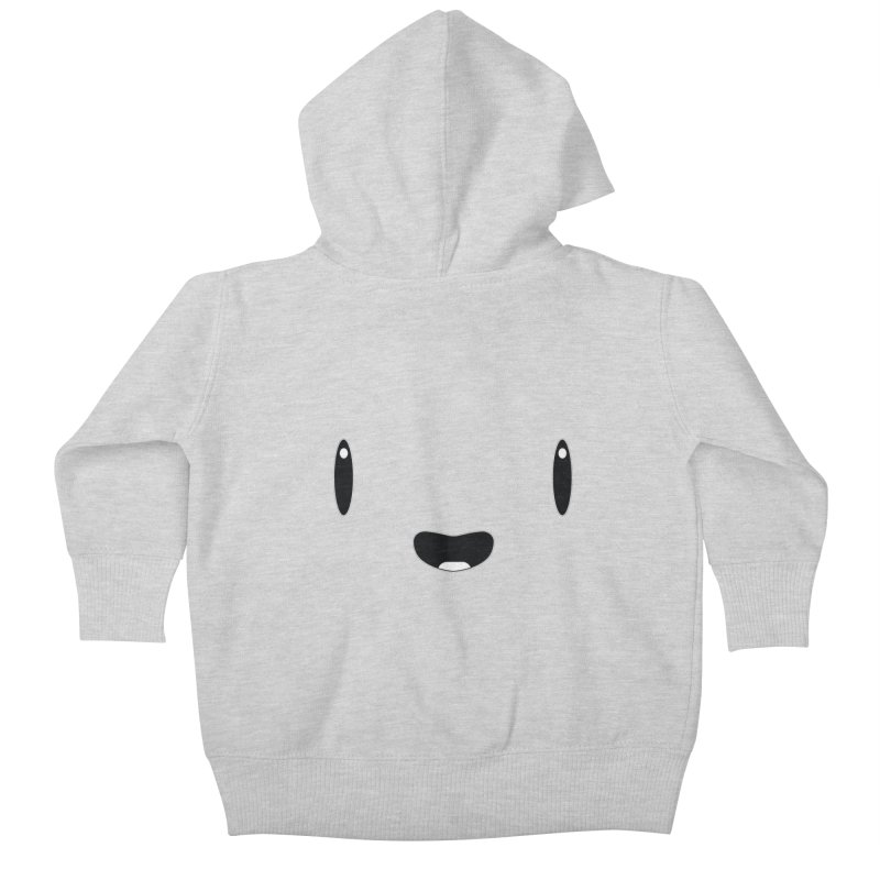 Minimalist Jellywish Face Kids Baby Zip-Up Hoody by Jellywishes