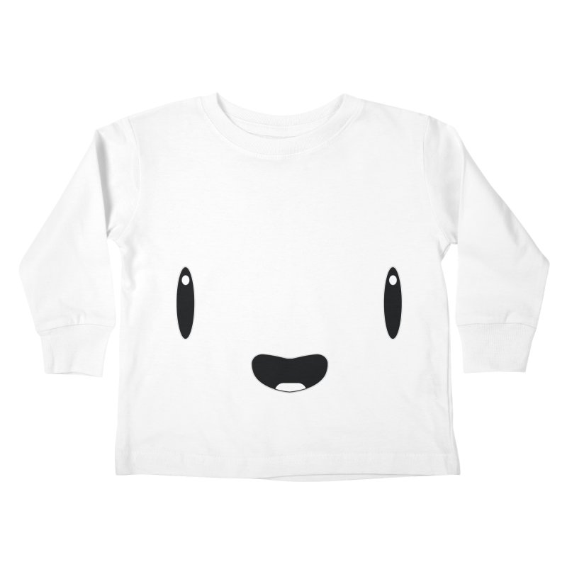 Minimalist Jellywish Face Kids Toddler Longsleeve T-Shirt by Jellywishes