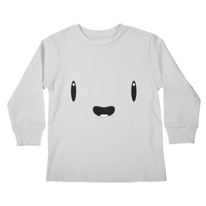 Minimalist Jellywish Face Kids Longsleeve T-Shirt by Jellywishes