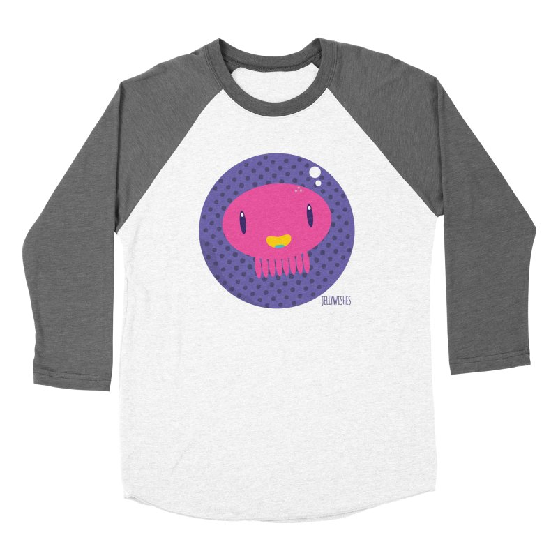 Jellywishes in Men's Baseball Triblend Longsleeve T-Shirt Tri-Grey Sleeves by Jellywishes