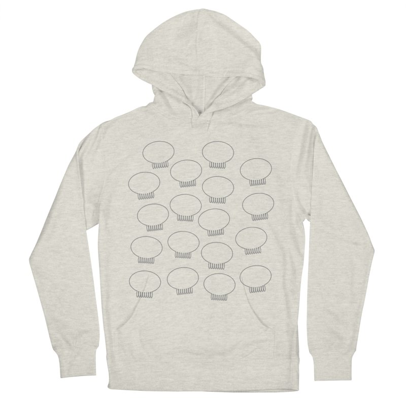 Grey Jellywish Icons Men's French Terry Pullover Hoody by Jellywishes