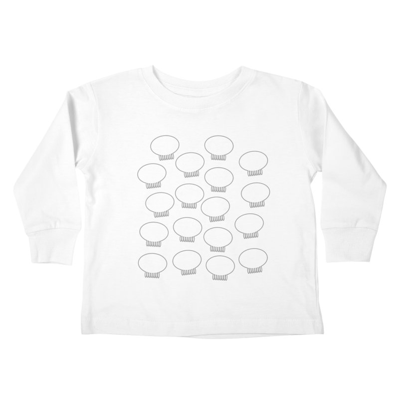 Grey Jellywish Icons Kids Toddler Longsleeve T-Shirt by Jellywishes