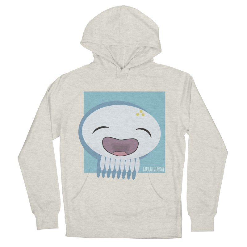 Laugh Everyday Men's French Terry Pullover Hoody by Jellywishes