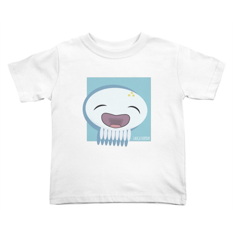 Laugh Everyday Kids Toddler T-Shirt by Jellywishes