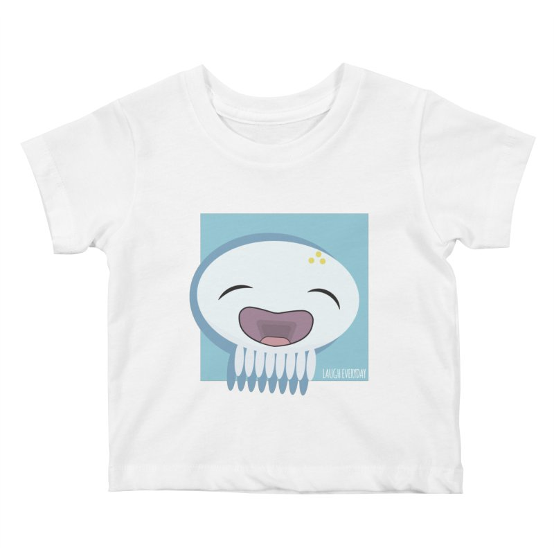 Laugh Everyday Kids Baby T-Shirt by Jellywishes