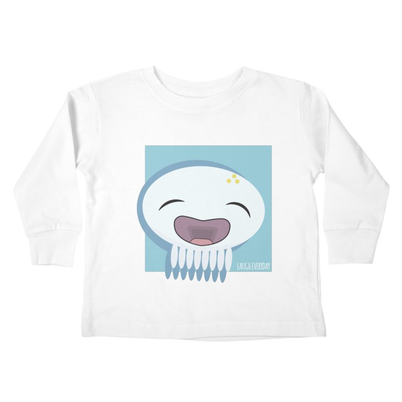 Laugh Everyday Kids Toddler Longsleeve T-Shirt by Jellywishes