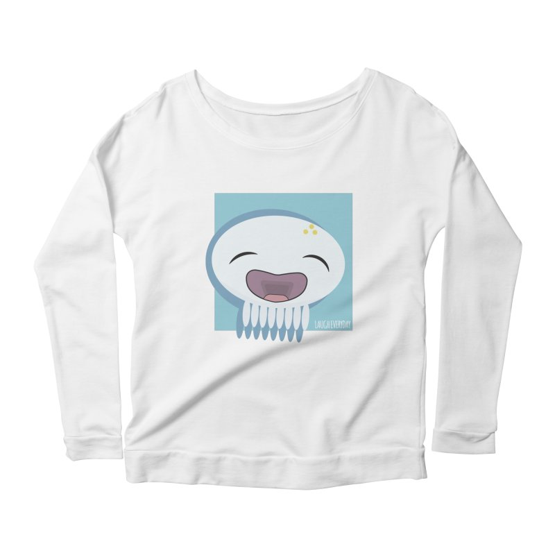 Laugh Everyday Women's Scoop Neck Longsleeve T-Shirt by Jellywishes