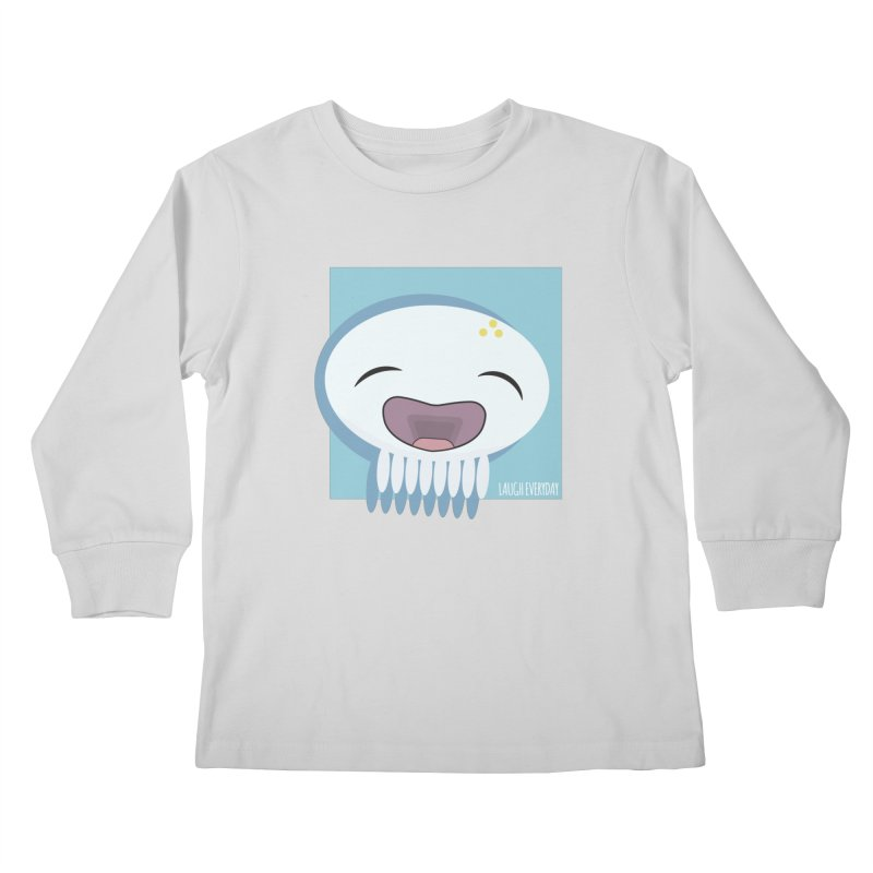 Laugh Everyday Kids Longsleeve T-Shirt by Jellywishes