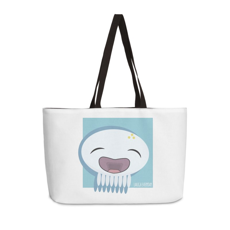 Laugh Everyday Accessories Weekender Bag Bag by Jellywishes