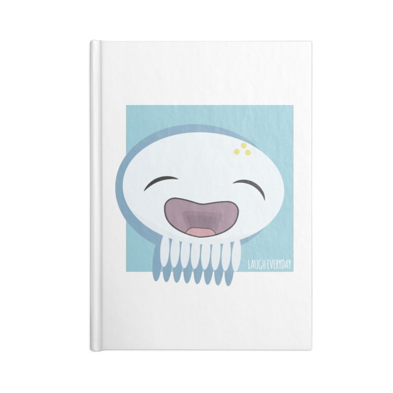 Laugh Everyday Accessories Blank Journal Notebook by Jellywishes