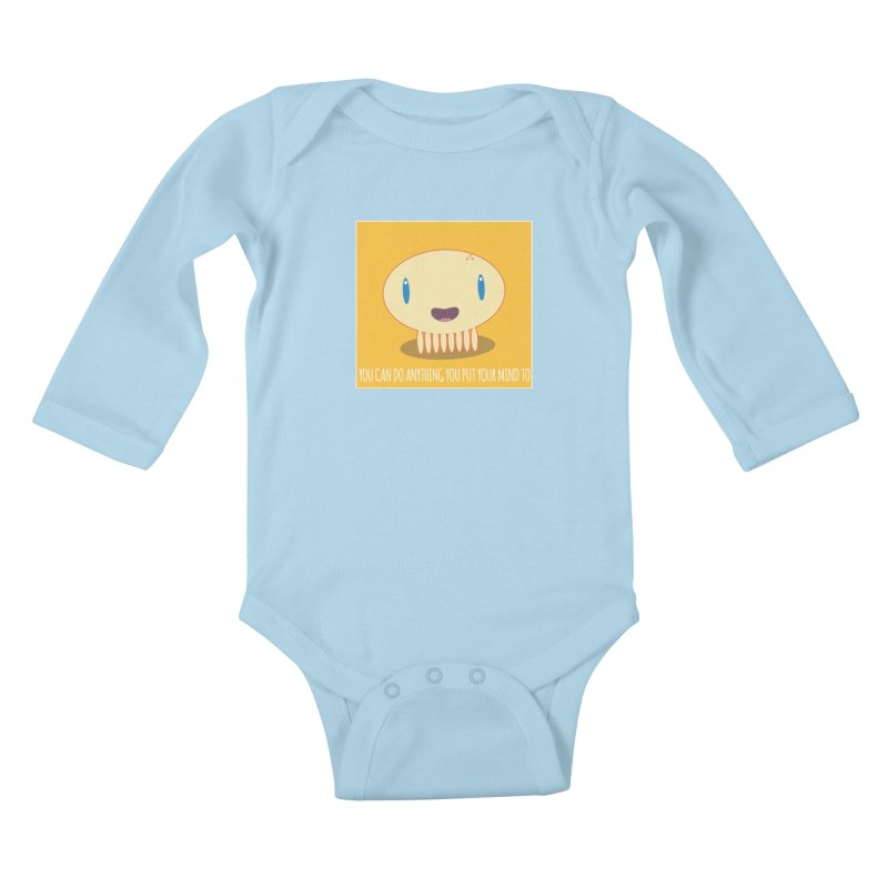 You can do anything! Kids Baby Longsleeve Bodysuit by Jellywishes