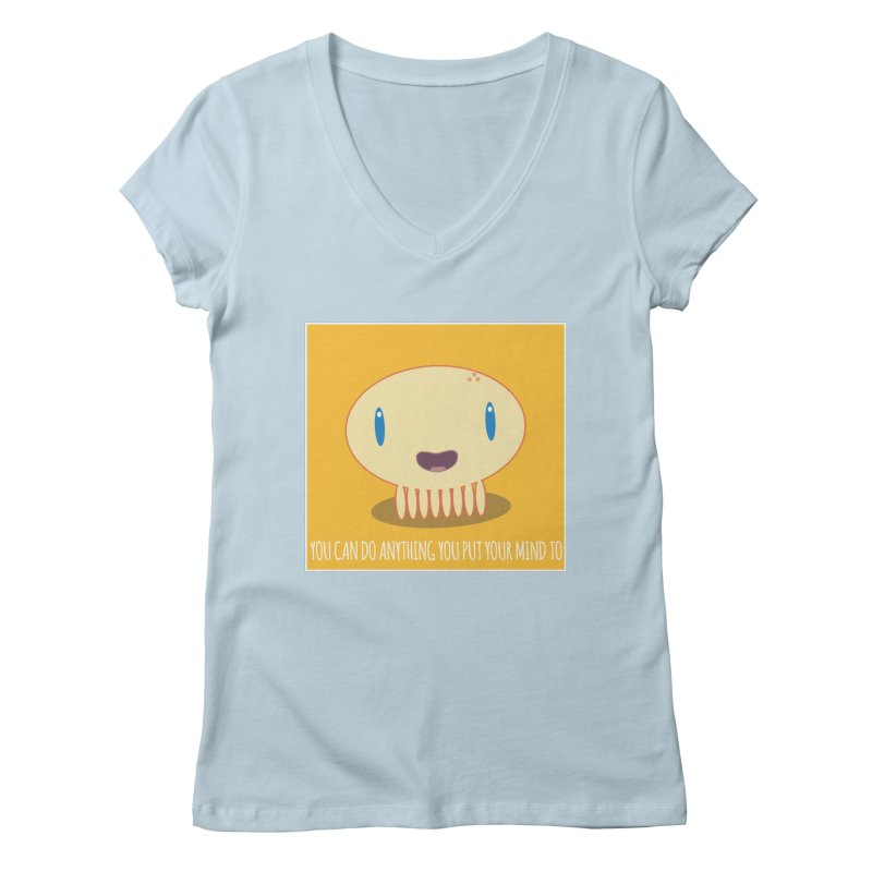 You can do anything! Women's V-Neck by Jellywishes