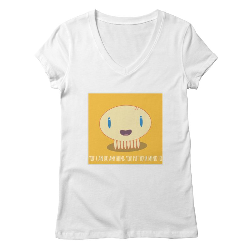 You can do anything! Women's Regular V-Neck by Jellywishes