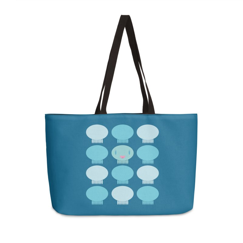 Blue Pattern Jellywish Accessories Weekender Bag Bag by Jellywishes