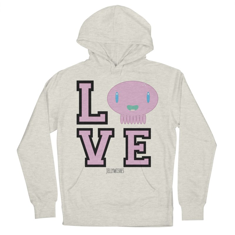 Love  Women's French Terry Pullover Hoody by Jellywishes