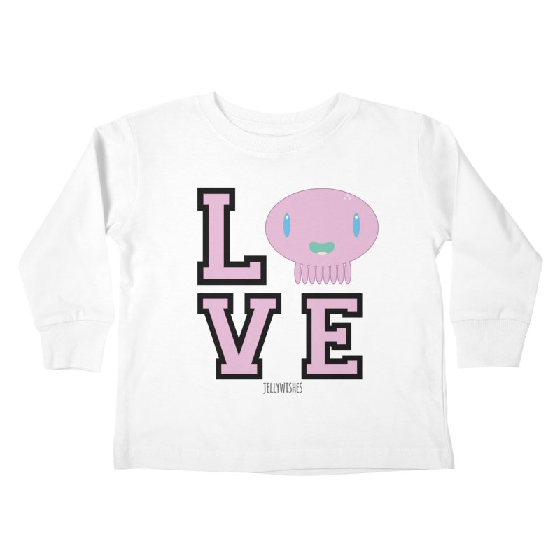Love  Kids Toddler Longsleeve T-Shirt by Jellywishes