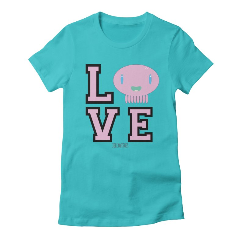 Love  Women's Fitted T-Shirt by Jellywishes