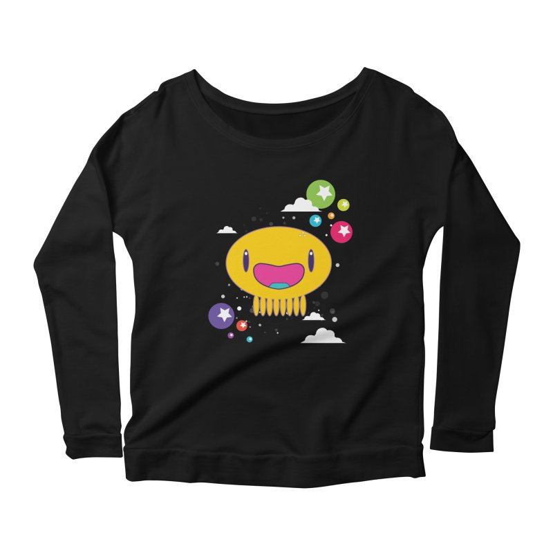 I am happy Women's Scoop Neck Longsleeve T-Shirt by Jellywishes