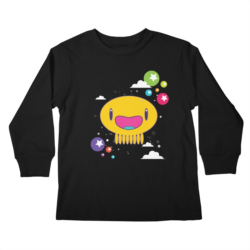 I am happy Kids Longsleeve T-Shirt by Jellywishes