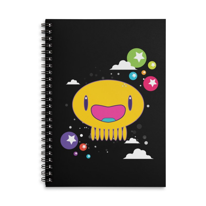 I am happy in Lined Spiral Notebook by Jellywishes