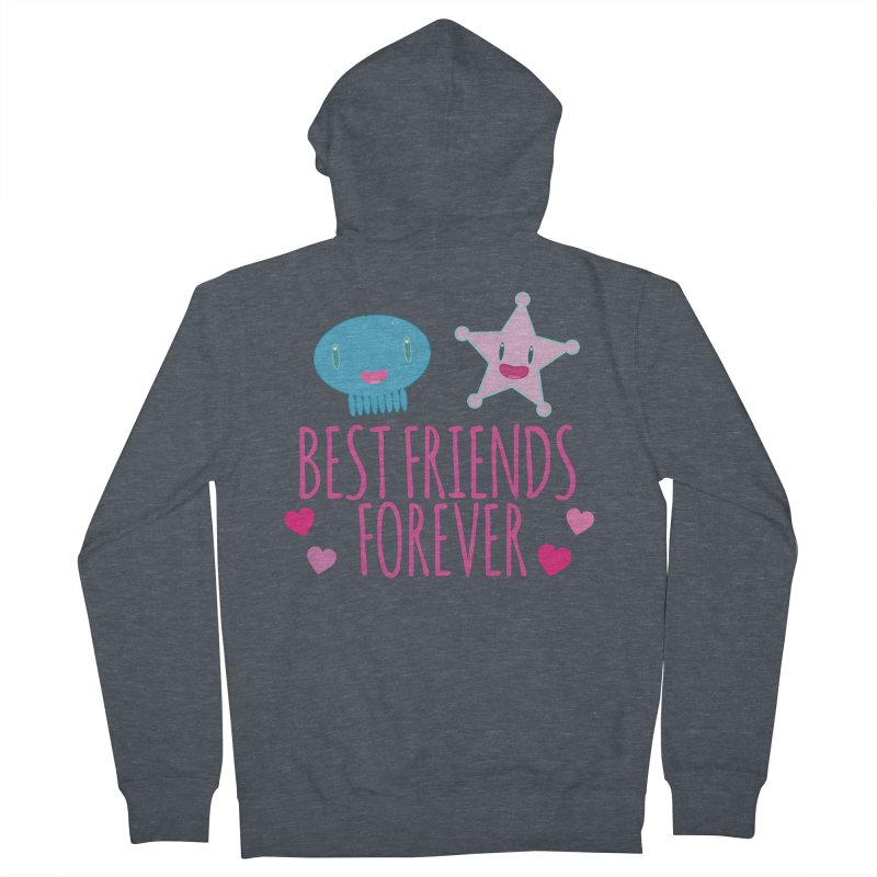 Best Friends Forever Women's French Terry Zip-Up Hoody by Jellywishes