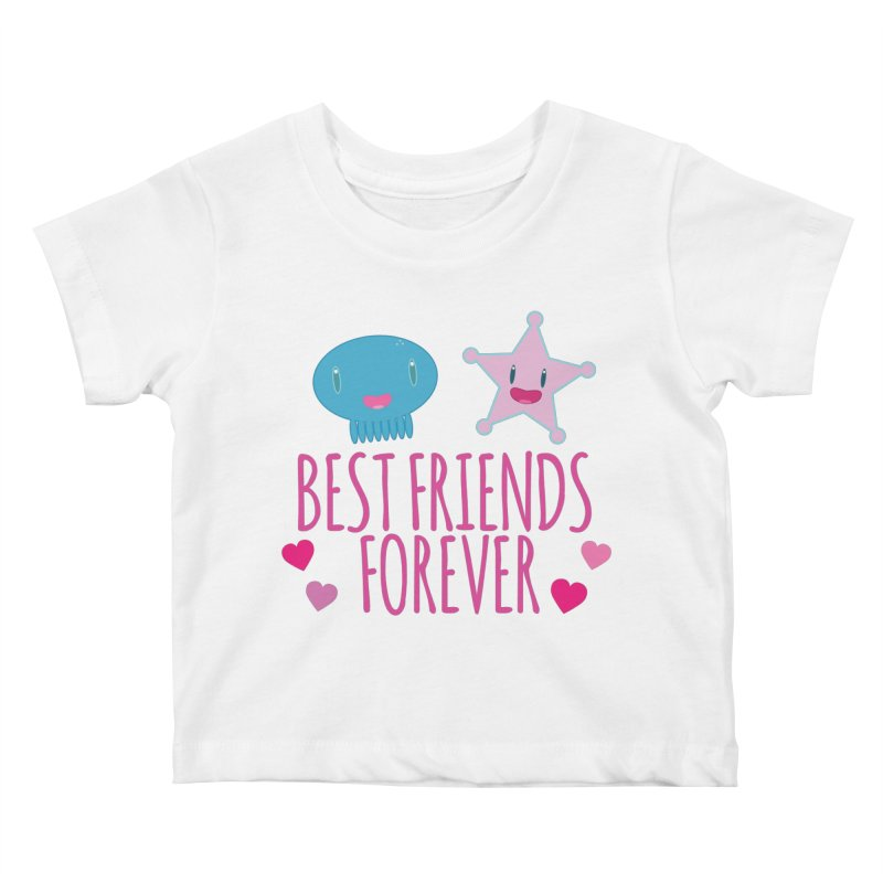 Best Friends Forever Kids Baby T-Shirt by Jellywishes