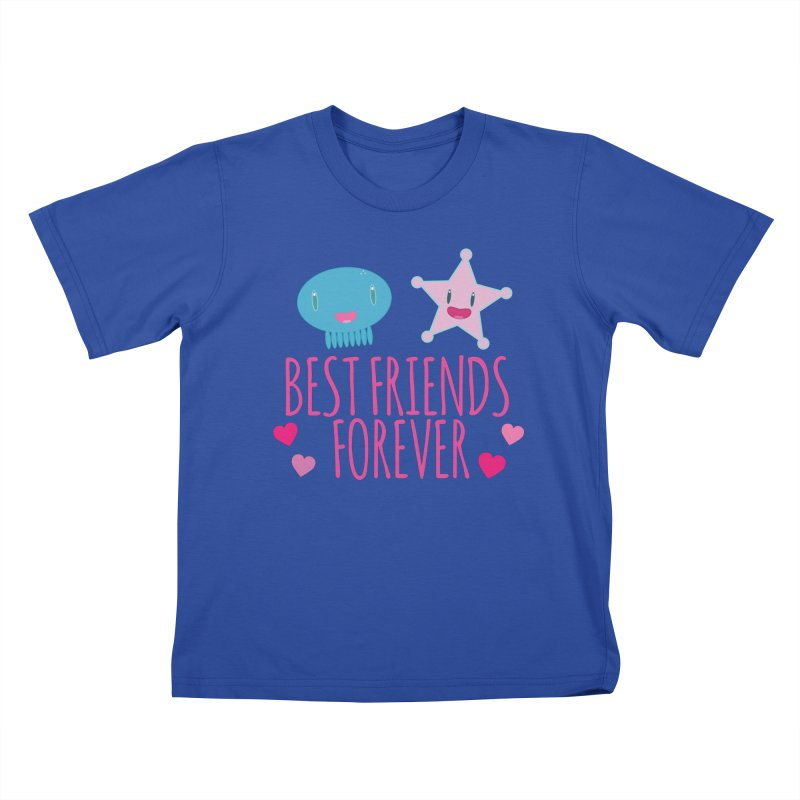 Best Friends Forever Kids T-Shirt by Jellywishes