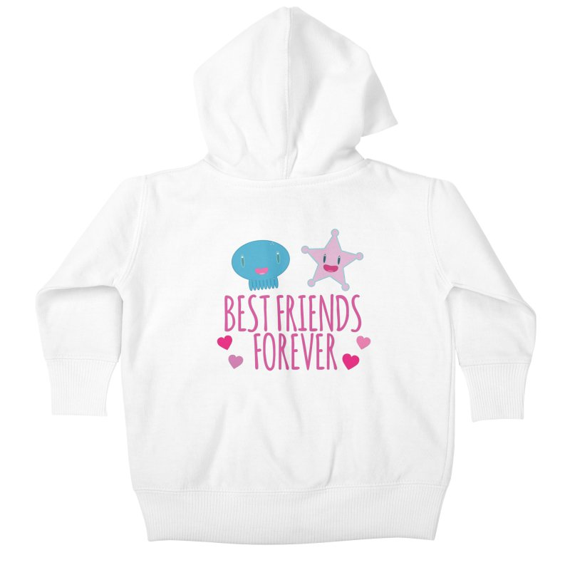 Best Friends Forever Kids Baby Zip-Up Hoody by Jellywishes